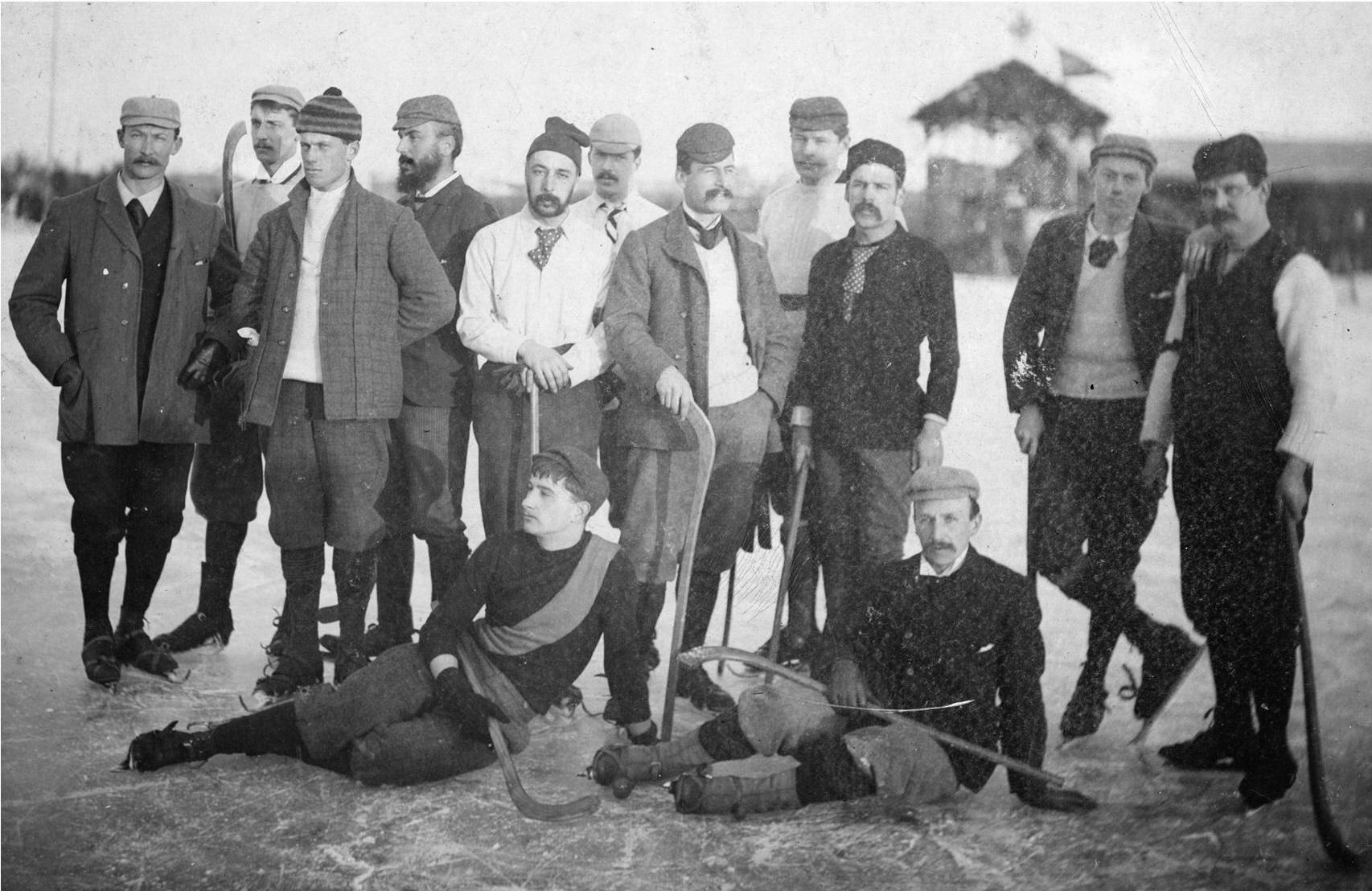 Bandyteam Bury Fen uit Engeland (ongeveer 1890)